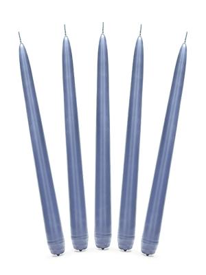 Konusa svece, matēta, jūras zila, 24 cm