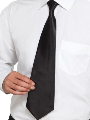 Deluxe Black Gangster Tie