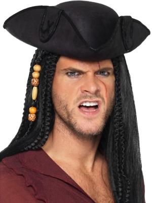 Pirāta kapteiņa cepure, melna