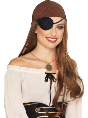 Pirāta acs aizsēgs, melns