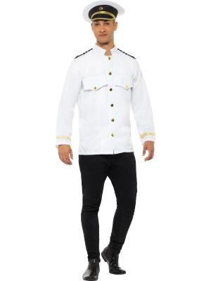 Kapteiņa žakete, balta