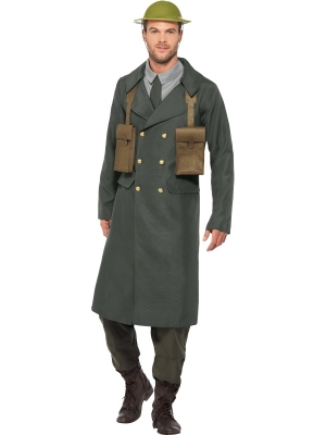 WW2 British Office Costume, with Trench Coat