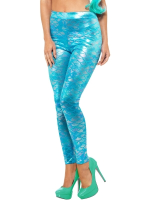 Mermaid Leggings, Blue