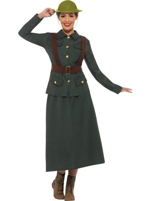 Otrā pasaules kara armijas virsnieces kostīms