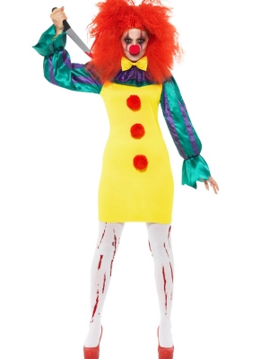 Horror Clown Lady Costume