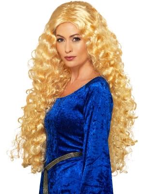 Парик средневековая королевы, блонд