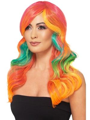 Парик радуга, разноцветный