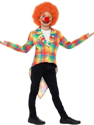 Neon Tartan Clown Tailcoat