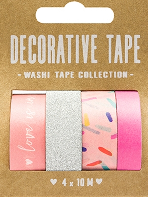 4 pcs, Decorative tape, 10 m