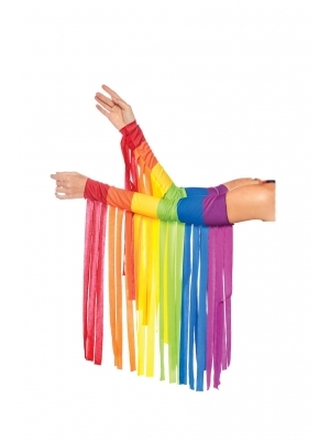 Rainbow fringe arm piece