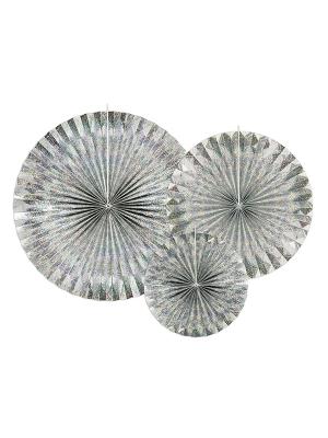 3 gab, Dekoratīvās rozetes, hologrāfiska, 40, 32, 23 cm