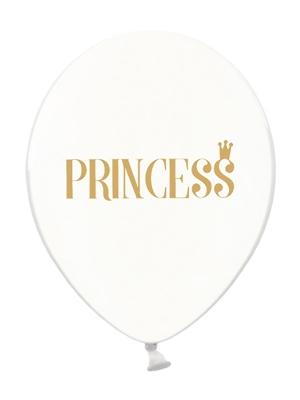 Шар Princess, прозрачный с золотым, 30 см