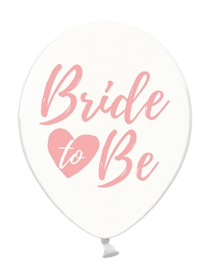 Balons Bride to be, caurspīdīgs ar rozā, 30 cm
