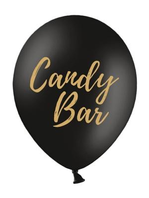Balons Candy Bar, melnsar zeltu, 30 cm