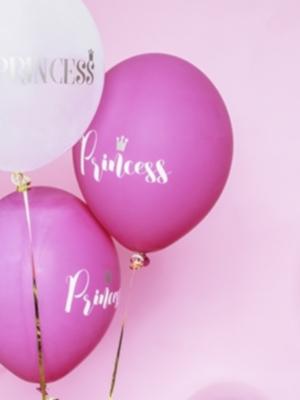 Balons Princess, tumši rozā, 30 cm