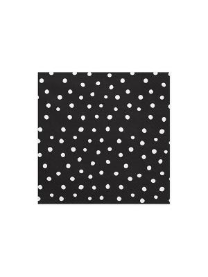 20 gab, Salvetes punktotas, melnas, 33 x 33 cm