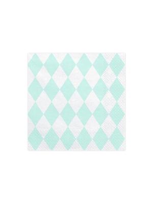 20 gab, Salvetes Arlekīna, baltas, 33 x 33 cm