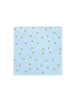 20 gab, Salvetes zvaigznes, gaiši zilas, 33 x 33 cm