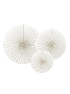 3 gab, Dekoratīvās rozetes, baltas, 40cm, 32cm, 23cm