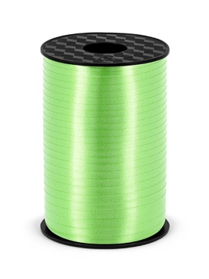 Plastic ribbon, green apple, 5mm/225m