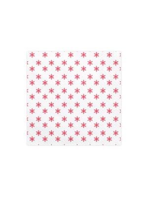20 gab, Salvetes sniegpārslas, baltas, 33 x 33 cm