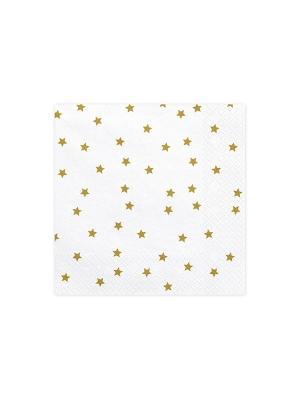 20 gab, Salvetes zvaigznes, baltas, 33 x 33 cm