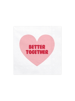 20 pcs, Napkins Sweet Love, 33x33cm