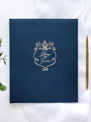 22 lpp, Viesu grāmata, tumši zila, 20 x 24.5 cm