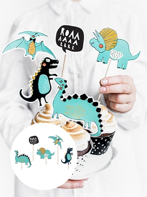5 pcs, Toppers Dinosaurs, 10.5-20cm