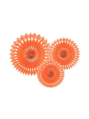 3 gab, Dekoratīvās rozetes, persiku, 20, 25, 30 cm