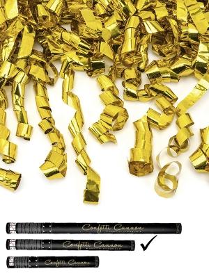 Plaukšķene ar strēmelēm, zelta, 60 cm