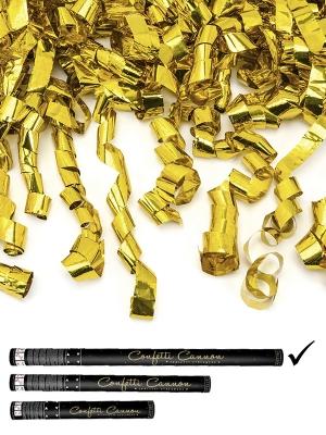 Plaukšķene ar strēmelēm, zelta, 80 cm