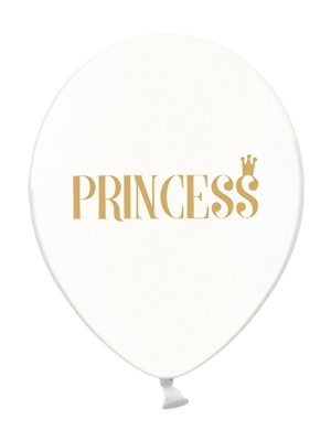 6 шт, Шары Princess,прозрачные, 30 см