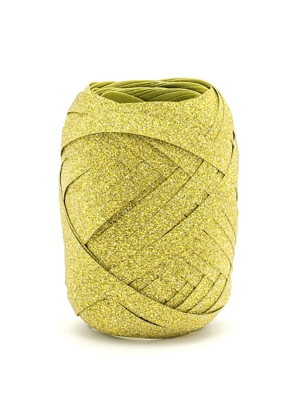 Plastic ribbon, gold, 5mm/10m