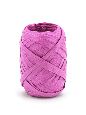 Raffia ribbon, 5mm/10m, dark pink