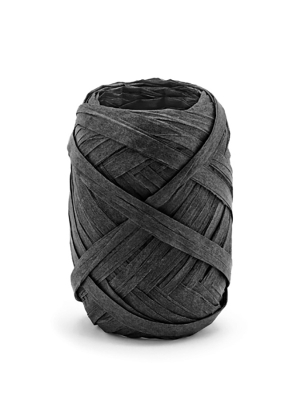 Raffia ribbon, 5mm/10m, black