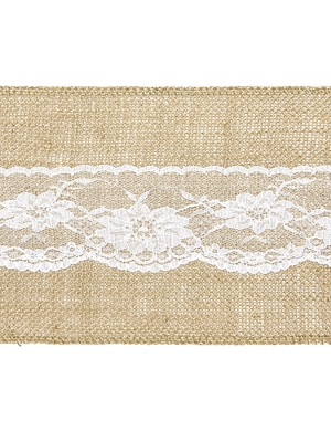 Burlap chair sash with lace, 15 х 275 cm