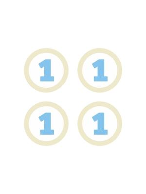 4 gab, Papīra dekorācija 1, balta ar zilu, 5.5 cm