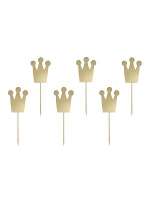 6 gab, Iesmiņi Kroņi, no kolekcijas Princese, zelta, 12 cm