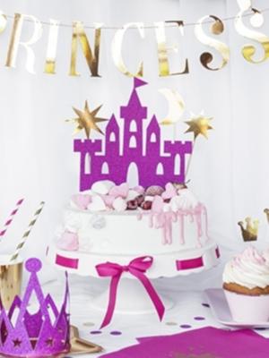 4 gab, Tortes iesmiņi Princess pils, 17 - 21.5 cm