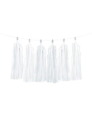 12 pušķu virtene, balta, 30 x 150 cm