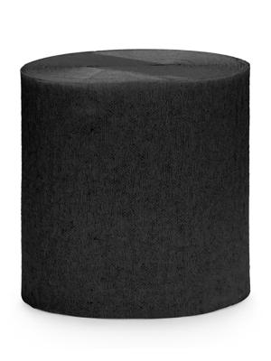 4 gab, Kreppapīra ruļļi, melni, 5 cm x 10 m