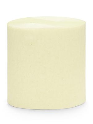 4 pcs, Crepe streamer, light cream, 5 cm x 10 m