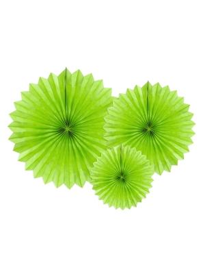 3 gab, Dekoratīvās rozetes, zaļš ābols, 20, 30, 40 cm