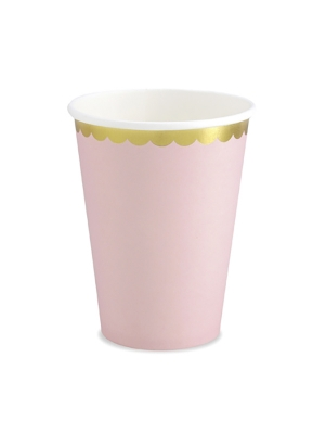 6 pcs, Cups, light pink, 220 ml