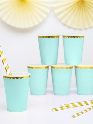 6 pcs, Cups, mint, 220 ml