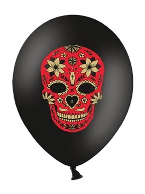 6 gab, Baloni Mirušo diena, melns, 30 cm