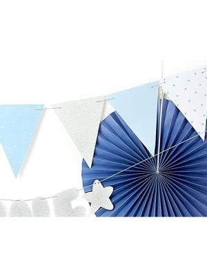 Garland  - Flags, blue, 1.3 m