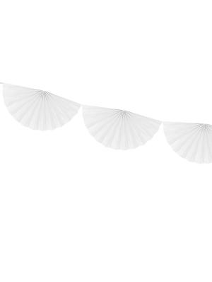 Virtene no rozetēm, balta, 30 cm x 3 m