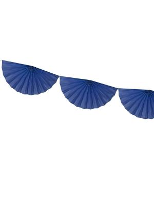 Virtene no rozetēm, tumši zila, 30 cm x 3 m